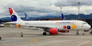 Viva Colombia opera una flota de 5 Airbuses A-320s. Se espera que inicie vuelos a Panama en los proximos meses.